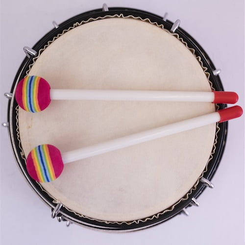 Table Drum with Sticks