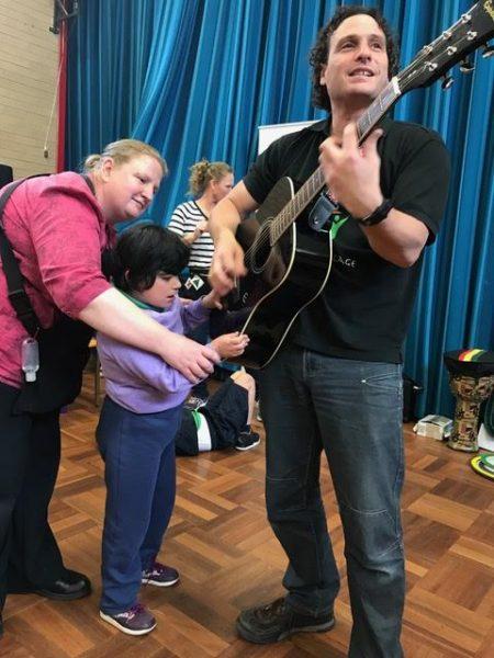Loving the guitar at Malkara School