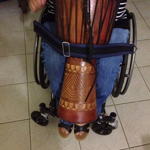Wheelchair Strap holding drum