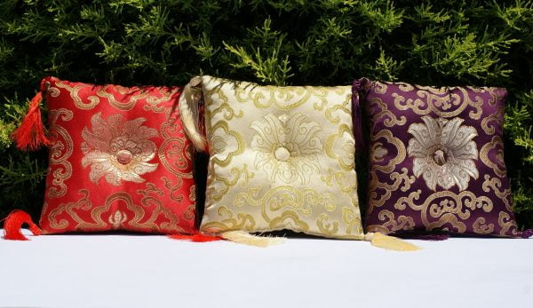 Singing bowl pillows